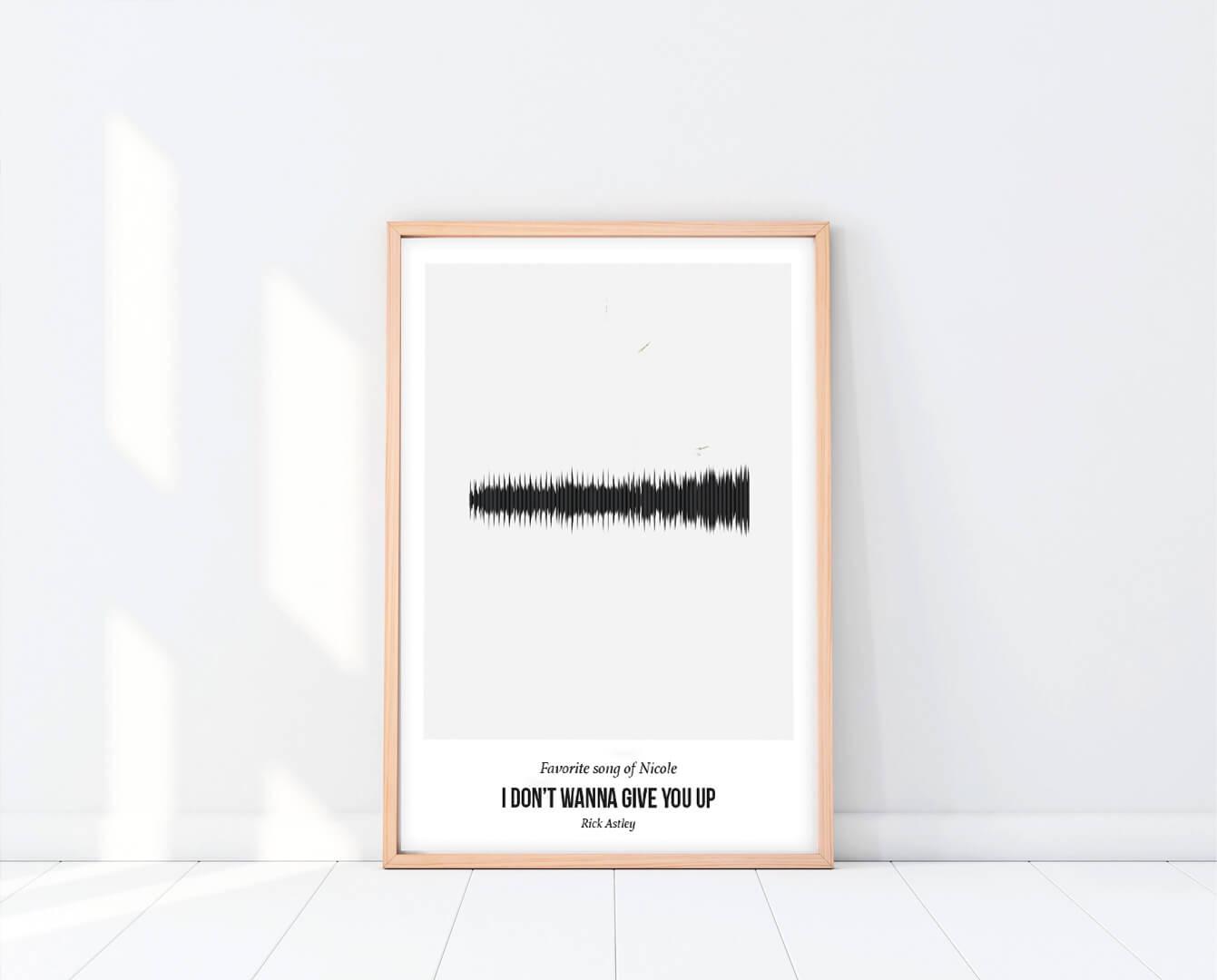 Muziek poster gepersonaliseerd