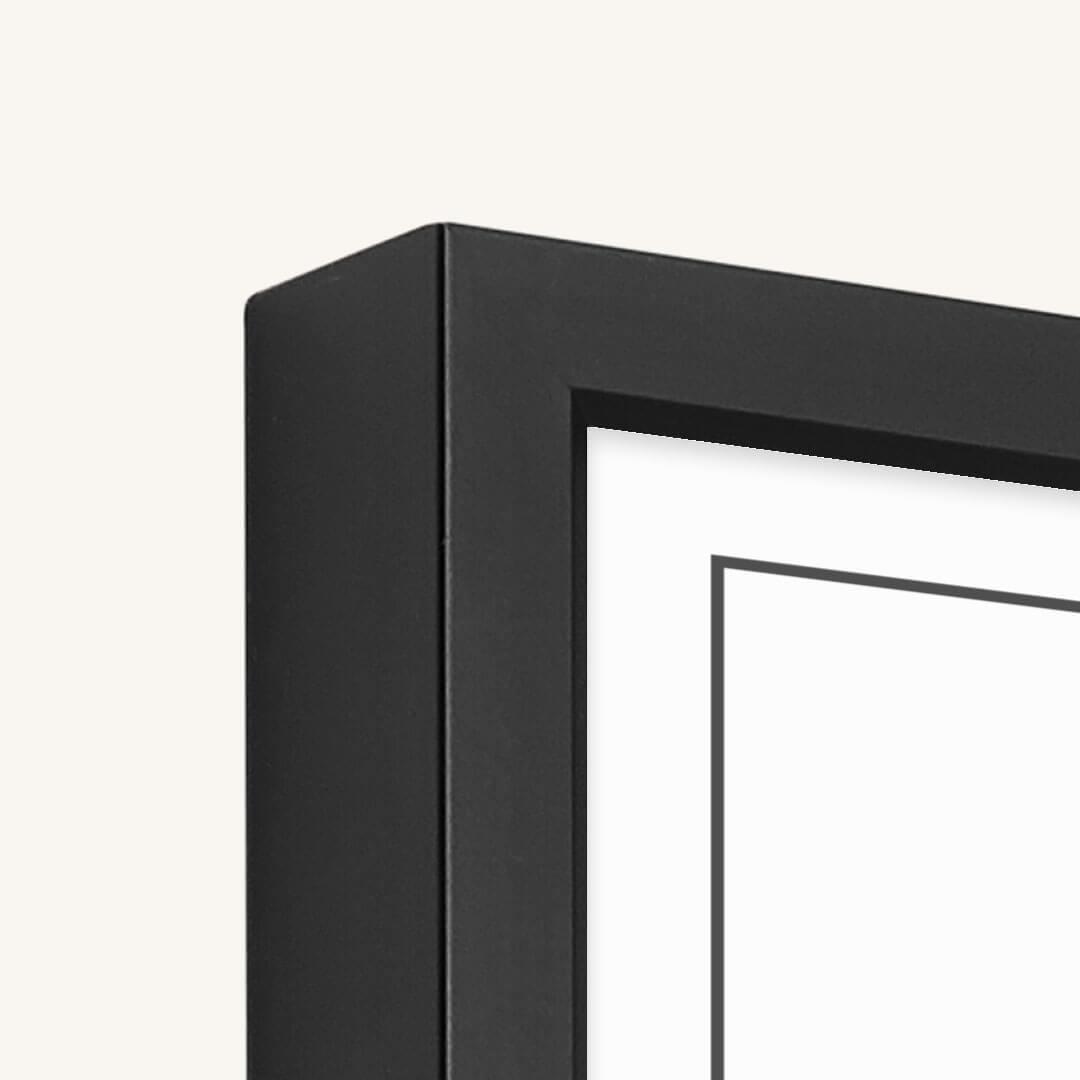 Kwaliteit rand van de aluminium lijst bij de Posterkamer