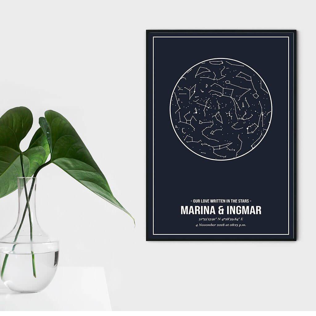 Poster met sterrenhemel maken