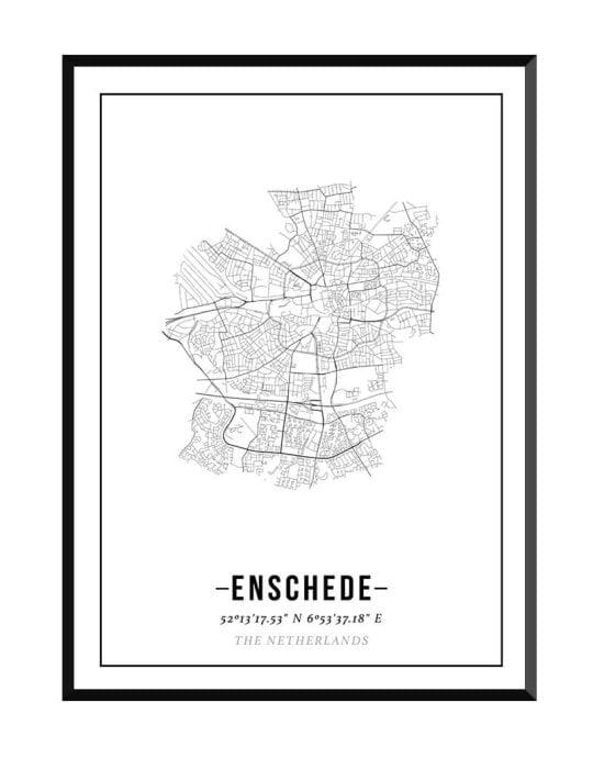 Poster van stadskern Enschede