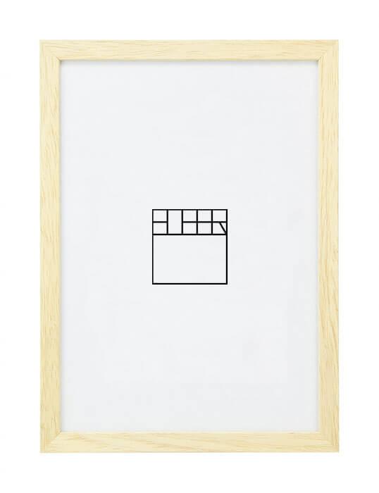 A4 – Licht ingewassen (hout)