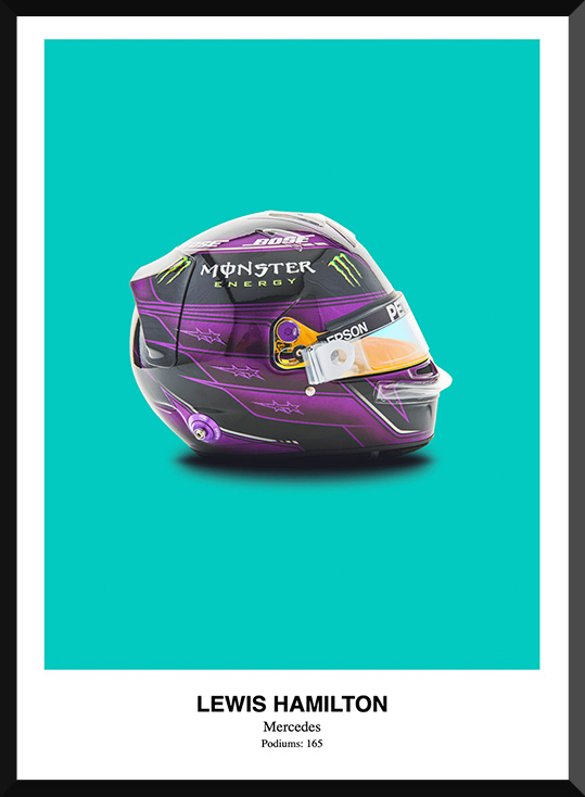 Lewis Hamilton Helmet Poster