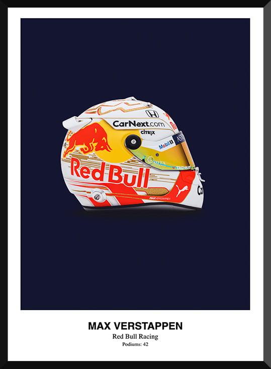 Max Verstappen Helmet Poster