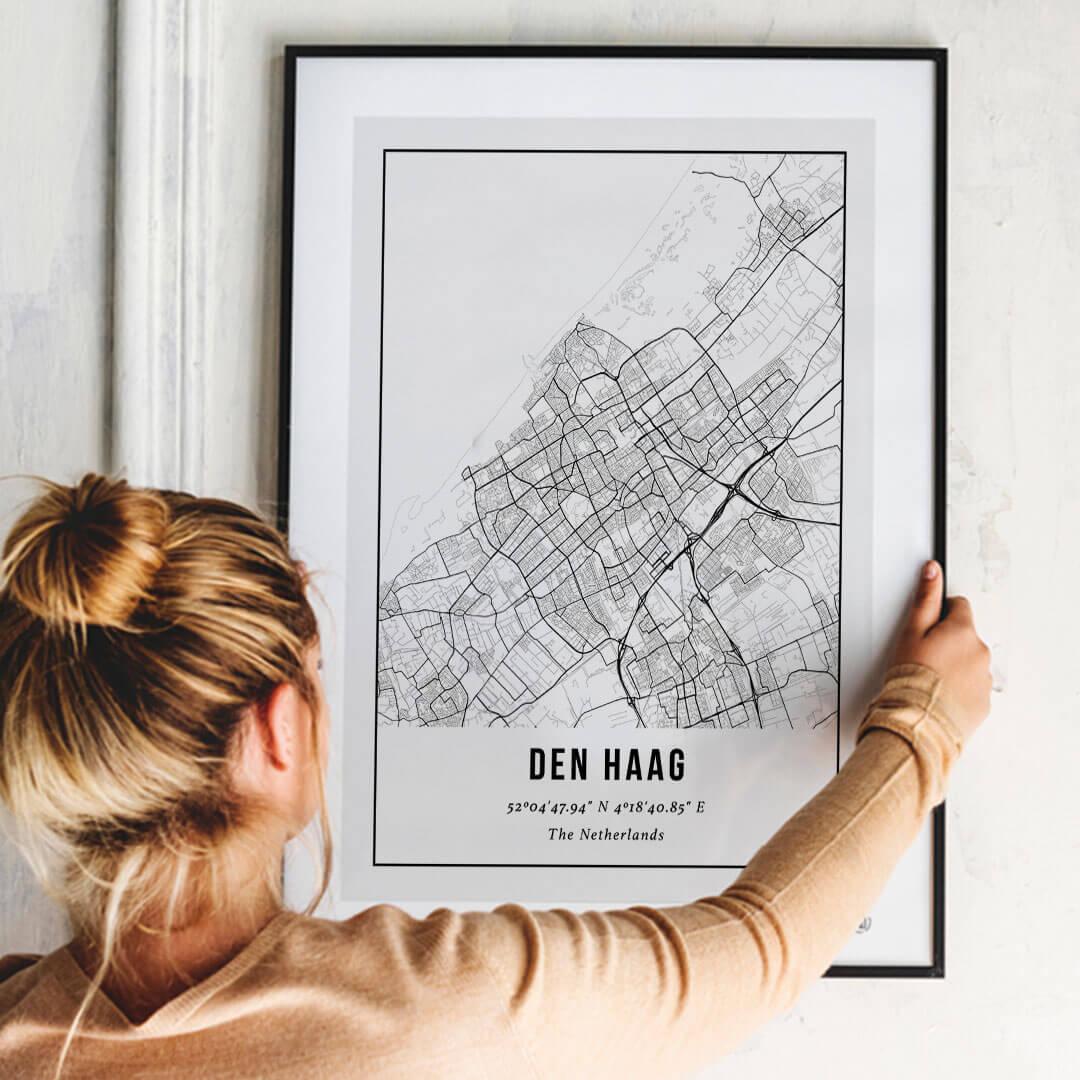 City Map Poster van Den Haag
