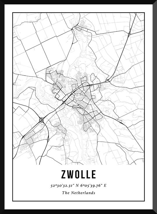 Poster van Zwolle