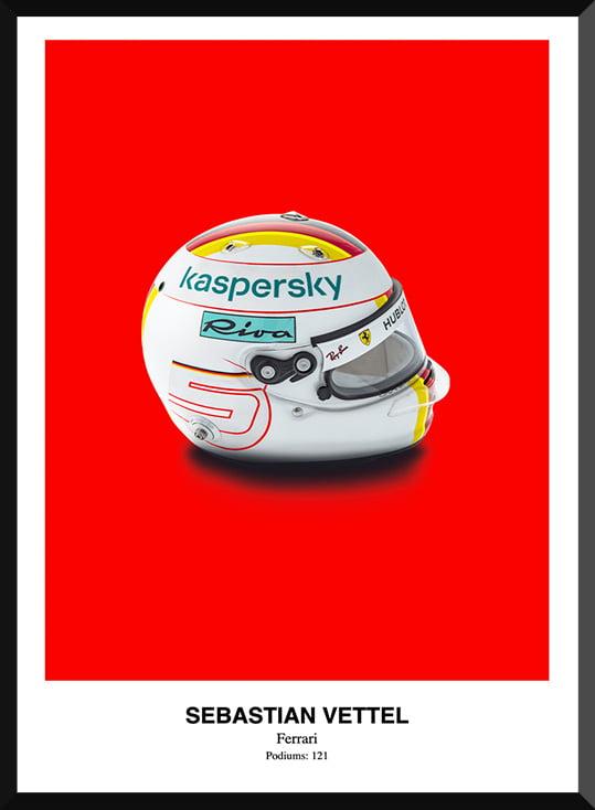 Sebastian Vettel Helmet Poster