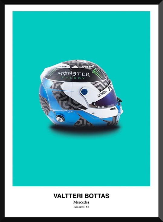 Valtteri Bottas Helmet Poster