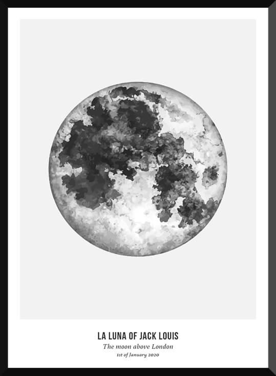 Moonphase poster bij de Posterkamer
