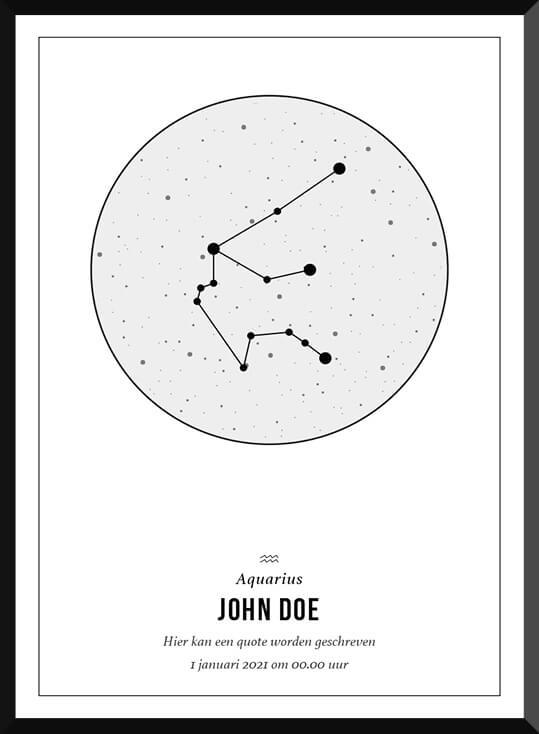 Zodiac Poster bij de Posterkamer