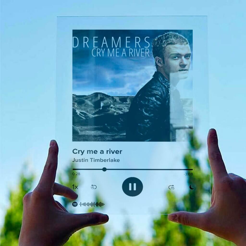 Spotify Glasplaat op plexiglas   Album Frame   De Posterkamer