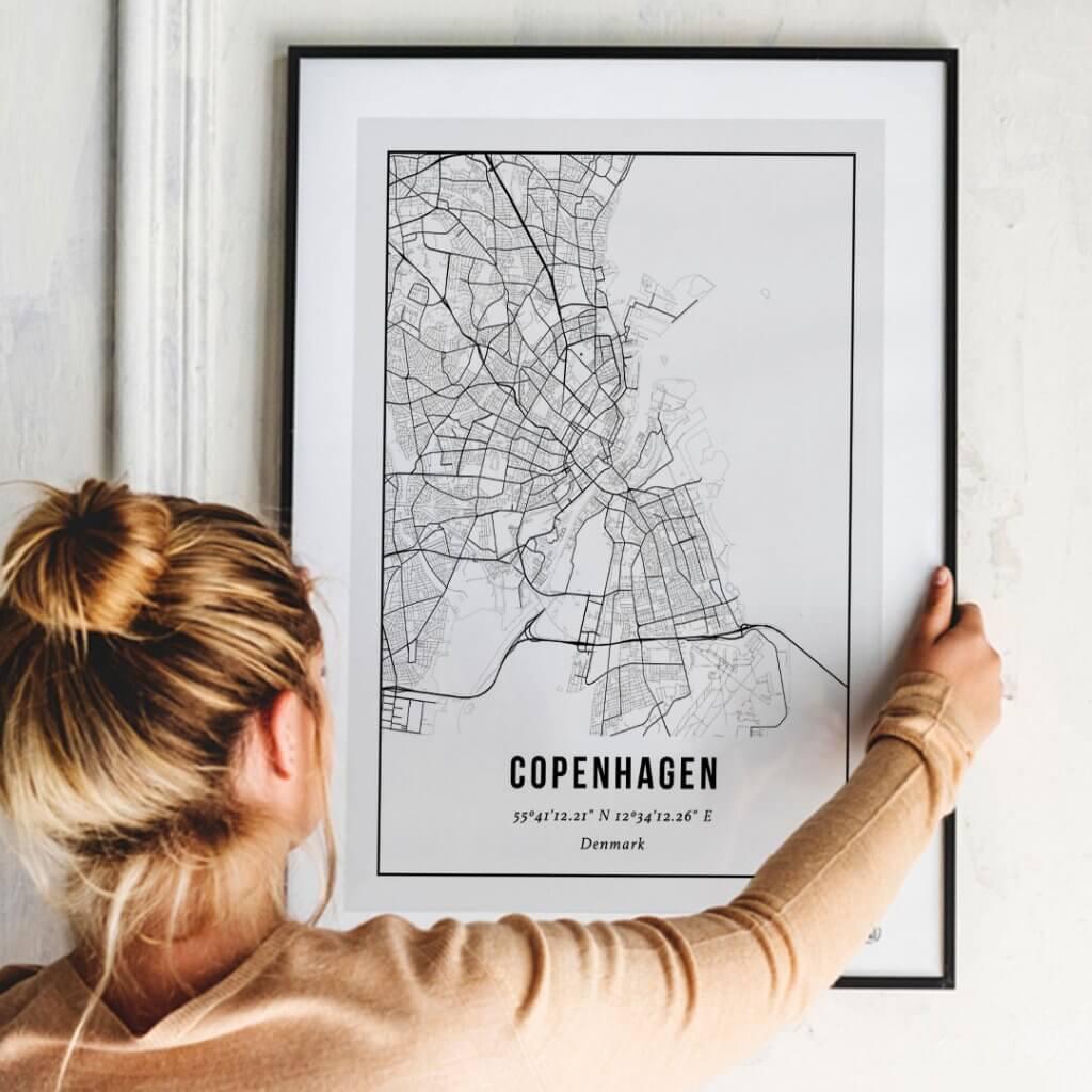Gepersonaliseerde poster van je stad maken